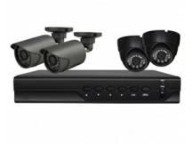 DVR HD 720p safesky hibrido + 4 camaras ahd + accesorios