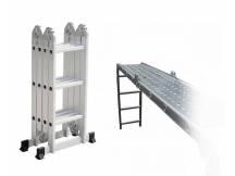 Escalera andamio 3.4 mts 12 escalones + chapones