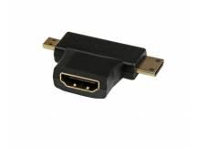 Adaptador HDMI tipo T a mini HDMI & micro HDMI