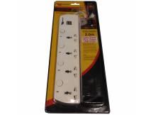 Zapatilla de 4 salidas universales 2 puertos USB