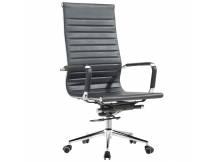 Silla de oficina Eames EA119 cuerina negra