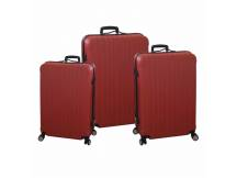 Set de 3 valijas rigidas rojas