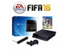 Consola Playstation 4 500GB con Camara y Fifa 16