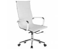 Silla de oficina Eames EA119 cuerina blanca