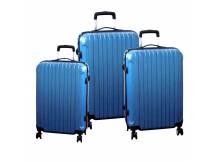 Set de 3 valijas rigidas celestes