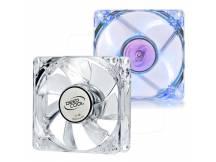 Fancooler Deepcool 8x8cm transparente LED azul