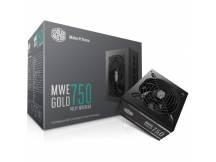 Fuente Coolermaster MWE 80+ Gold Modular 750W