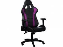 Silla Gamer Coolermaster Premium reclinable negro/violeta