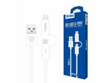 Cable Inkax MicroUSB/Iphone 2 en 1