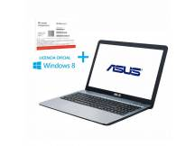 Notebook Asus Dualcore 2.4Ghz, 4GB, 500GB, 15.6, Win 8.1 COA