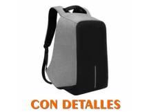 Mochila anti robo 15.6 colores negro-gris con detalles