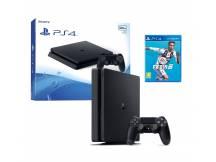 Consola Playstation 4 500GB Slim negra + FIFA 19
