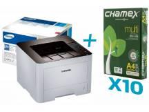 Impresora laser Samsung M4020 + 10 resmas de papel Chamex