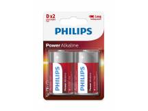Pila Alcalina Philips D x2