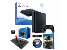 PS4 500GB Slim + Arcade Joystick + Call of Duty IW