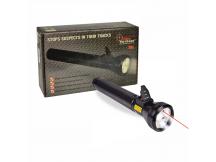 Linterna 3-LED 31cm c/ flashlight y bateria recargable