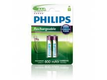Pilas recargables Philips AAA 800mAh X2