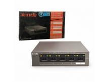 Switch Tenda PoE 4+1 puertos