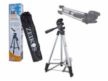 Tripode aluminio zeikos para camara digital o filmadora 1.30m
