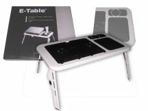 Mesa bandeja cooler plegable con fan para laptop