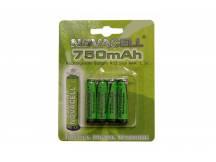 Pila recargable Novacell AAA 750mah X 4 unidades