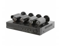 Kit safesky DVR + 4 camaras exteriores + accesorios