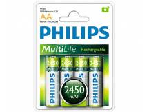 Pila recargable philips aa 2450mah