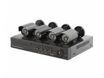 Kit safesky DVR + 4 camaras exteriores + accesorios (open box)