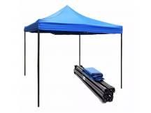 Gazebo plegable c/toldo super reforzado 3x3 mts azul