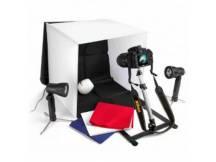 Set estudio fotográfico profesional portátil 40 cm + accesorios