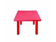 Mesa de plástico cuadrada niños rojo