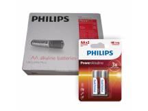 Pack de 12 blister de Pilas alcalinas Philips AA X2 unidades