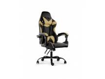 Silla Gamer Lumax ROM negro/dorado