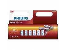 Pilas alcalinas Philips AA x 12
