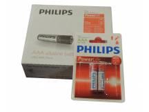 Pack de 12 blister de pila alkalina philips aaa X 2 unidades